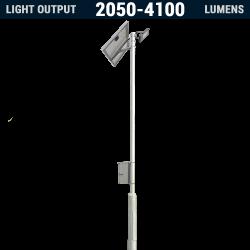 AL04 Solar 20W-40W LED Area Light (With Column)