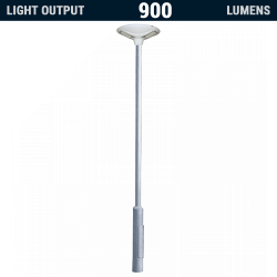 PO14 Solar 9W LED All-In-One Area Light (With Column)