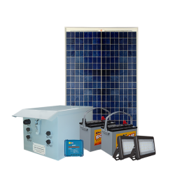 FL08 Solar 5W/10W/20W/30W Flood Light System (2 Lamp Kit)