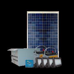 FL09 Solar 5W/10W/20W/30W Flood Light System (4 Lamp Kit)