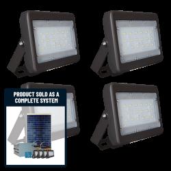 FL09 Solar 5W/10W/20W/30W LED Sign Light System (4 Lamp Kit)