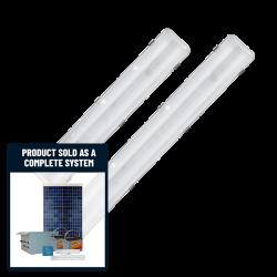 FL17 Solar Bus Shelter Light System (1 or 2 Lamp Kit)
