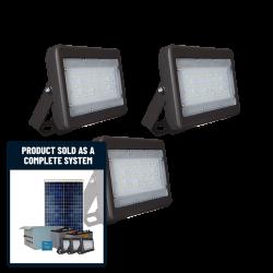 FL25 Solar 5W/10W/20W/30W Flood Light System (3 Lamp Kit)