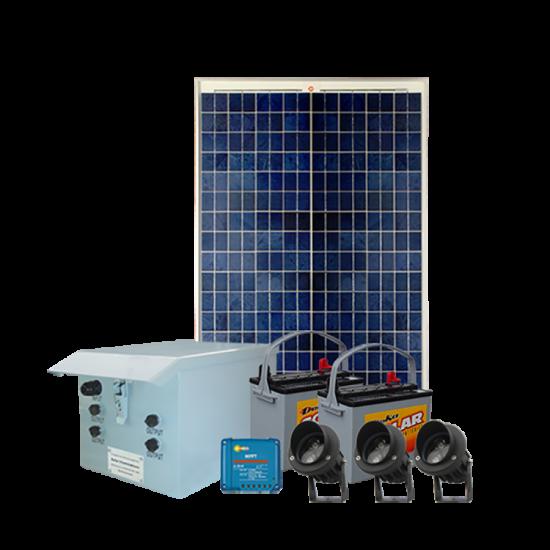 FL80 Solar LED Mini Spot Light Basic System (1 Lamp Kit)