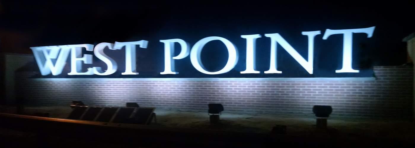 West Point NY - Solar Sign Lights by Solar Illuminations