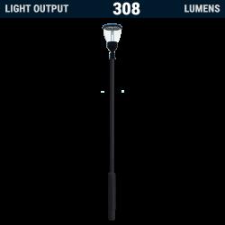 PO10 Solar 4W LED Lamp Post Light (With Column)