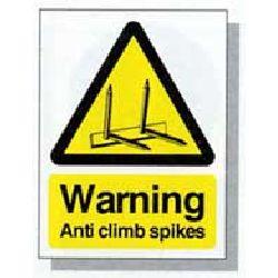 AC02 Anti Climb Warning Sticker