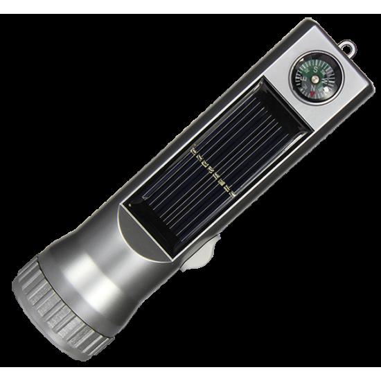FR02 Solar LED Torch & Compass
