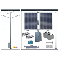 SL24 Solar Double 10W-20W LED Street / Car Park / Area Light (With Column)