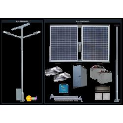 SL24 Solar Double 10W/15W/20W LED Street / Car Park / Area Light (With Column)