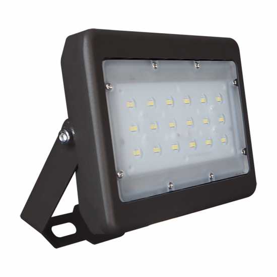 SL09 Solar 10W LED Floodlight / Car Park / Area Light (With Column)