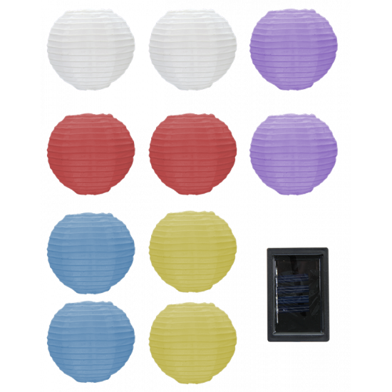 XP12 Solar LED Lantern Light String (10 LEDs)