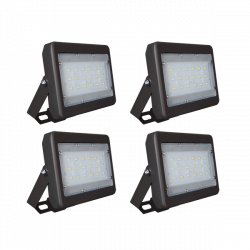 FL09 Solar 5W/10W/20W/30W Flood Light System (4 Lamp Kit)