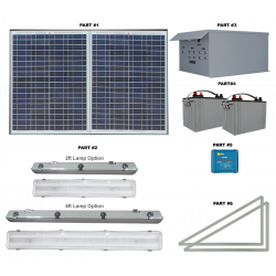 FL20 Solar Bus Shelter Light System (4 Lamp Kit)