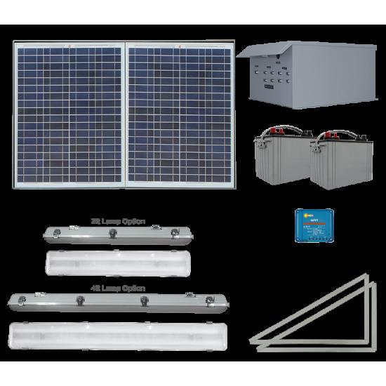 FL20 Solar Bus Shelter Light System (4 Lamp Kit)