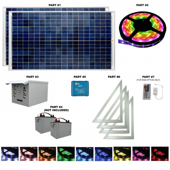 FL21 Solar 24W LED Sign Light System (1 Roll Kit)
