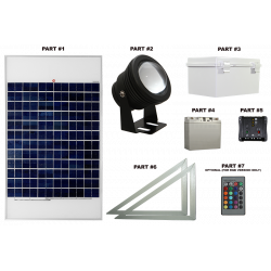 FL71 Solar LED Spot Light System (1 Lamp Kit)