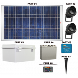 FL81 Solar 3W LED Sign Light System (2 Lamp Kit)