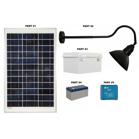 FL90 Solar 3W LED Sign Light System (1 Lamp Kit)