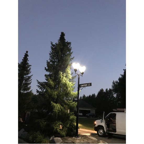 PO11 Solar LED Lamp Post Light (With Column)