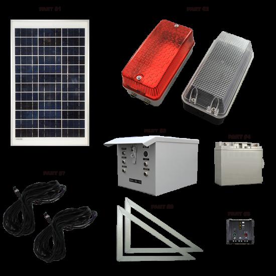 SC03 Solar Scaffolding Light System (2 to 5 Lamp Kit)