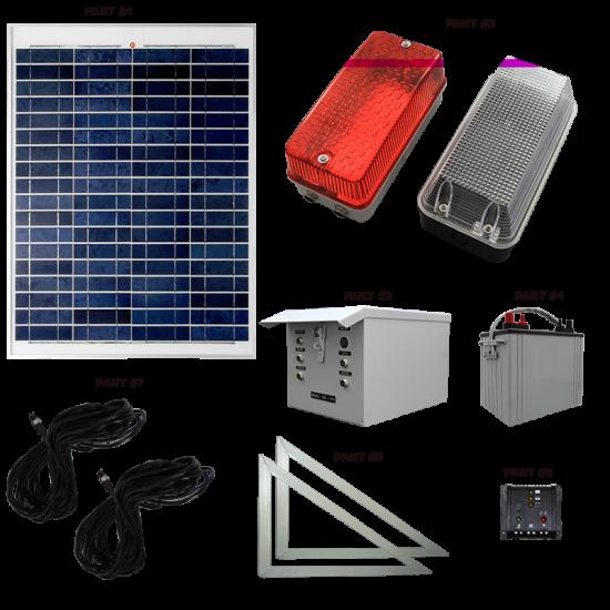SC05 Solar Scaffolding Light System (10 to 15 Lamp Kit)