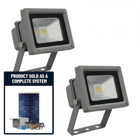 SF21 Solar LED Mini Floodlight System With Motion Sensor (2 Fixtures)