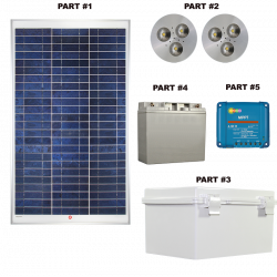 SH02 Solar LED Bus Shelter Light (2 Lamp Kit)