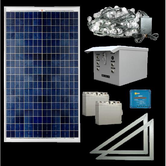XP08 Solar 200 LED Christmas / Fairy Light Commercial System