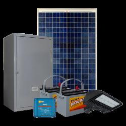 SL04 Solar 30W-150W LED Car Park / Area Light (With Column)