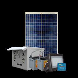 SL09 Solar 10W LED Floodlight / Car Park / Area Light (With Column)