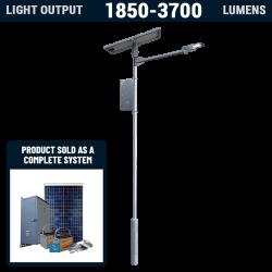 SL12 Solar 10W-20W LED Street / Car Park / Area Light (With Column)
