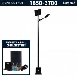 SL45 Solar 10W-20W LED Area Light (With Column)