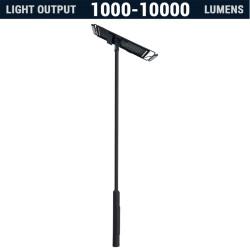 SL51 Solar 5W-40W LED Street / Car Park / Area Light (With Column)